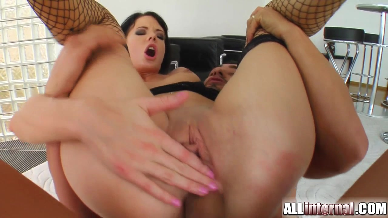All Internal Liz has a crazy gape and jizz exploding from her ass